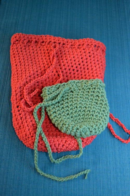 easy crochet treasure bags