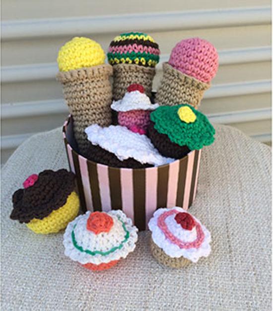 Crochet Cupcake and Ice Cream Pattern