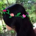 Crochet Floral Head Garland