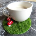 Fairy Garden Coffee Coaster
