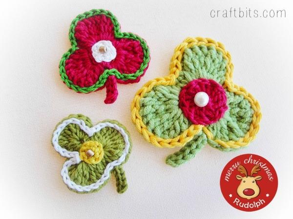 Crochet Stars Appliqués and Shamrocks