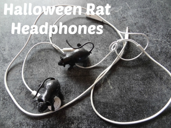 Halloween Rat Earphones