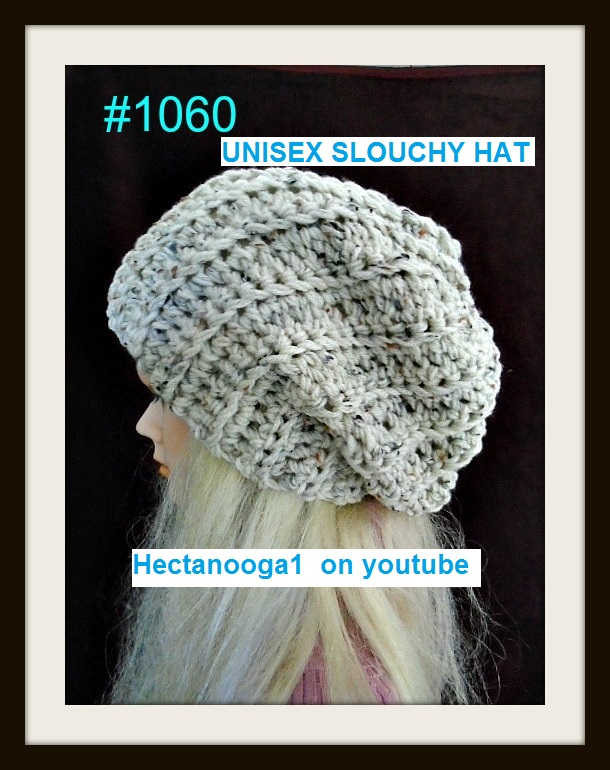 Unisex Crochet Slouch Hat