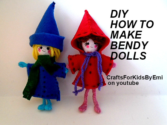 Bendy Pipecleaner Dolls