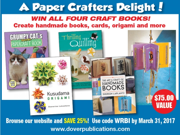 Giveaway: Win 4 Paper Craft Books from Dover Publishing
