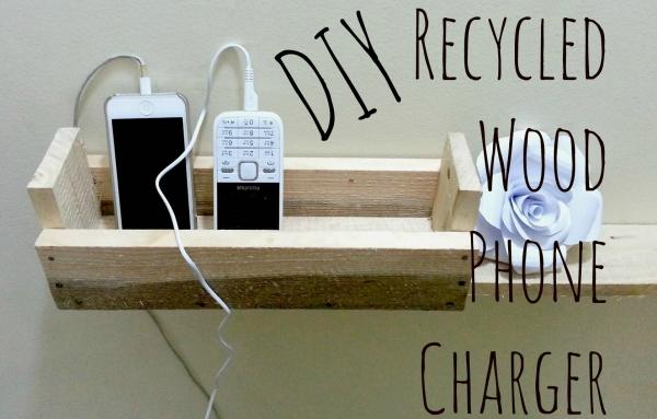 DIY Hack: Wooden Pallet Charging Basket