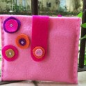 Adorable DIY Pink Felt Purse