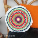 Crochet Colourful Doily Pillow