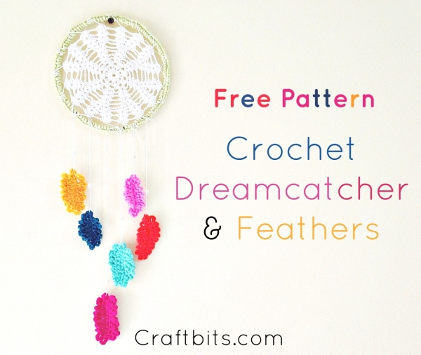 Crochet Feather Dreamcatcher Pattern