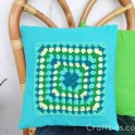 Crochet Granny Square Pillow