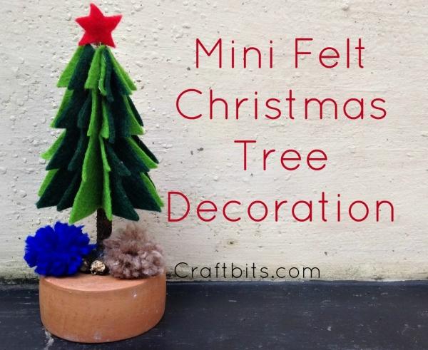 Make a Mini Felt Christmas Tree