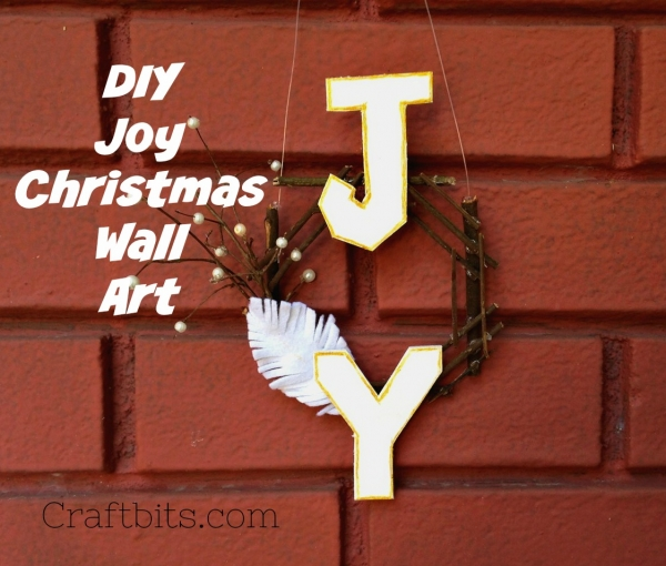 Christmas Wreath JOY – Made From Twigs