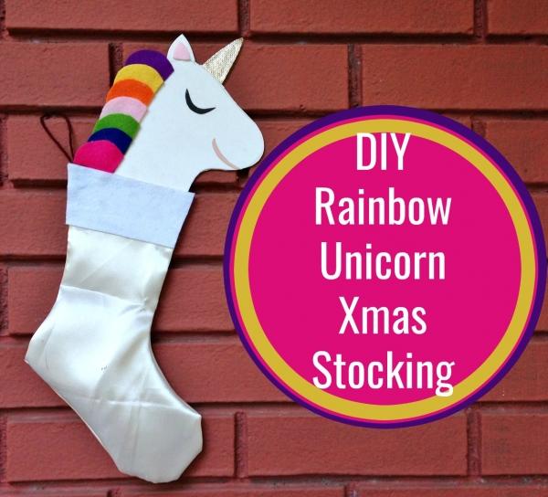 Make your own Unicorn Christmas Stocking