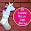 Make your own Unicorn Christmas Stocking