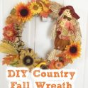 DIY Country Scarecrow Fall Wreath