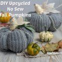 No Sew Sweater Halloween Pumpkins