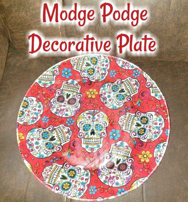 Modge Podge Dollar Tree Decorative Plate