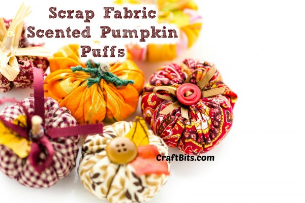 DIY Scrap Fabric Scented Pumpkin Puffs