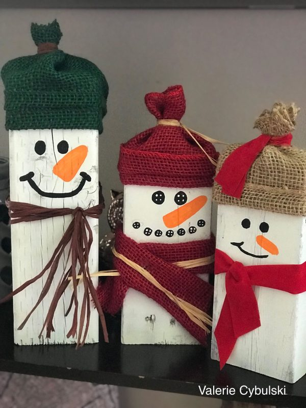 DIY Snowman Blocks