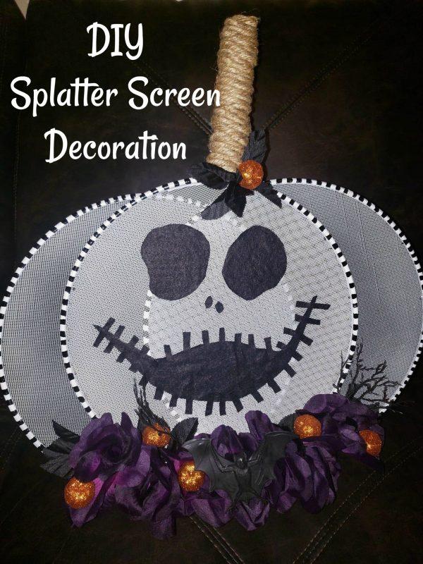 Dollar Tree Splatter Screen – Skeleton Decoration