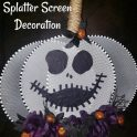 Dollar Tree Splatter Screen - Skeleton Decoration