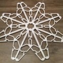DIY Coat Hanger Christmas Snowflake