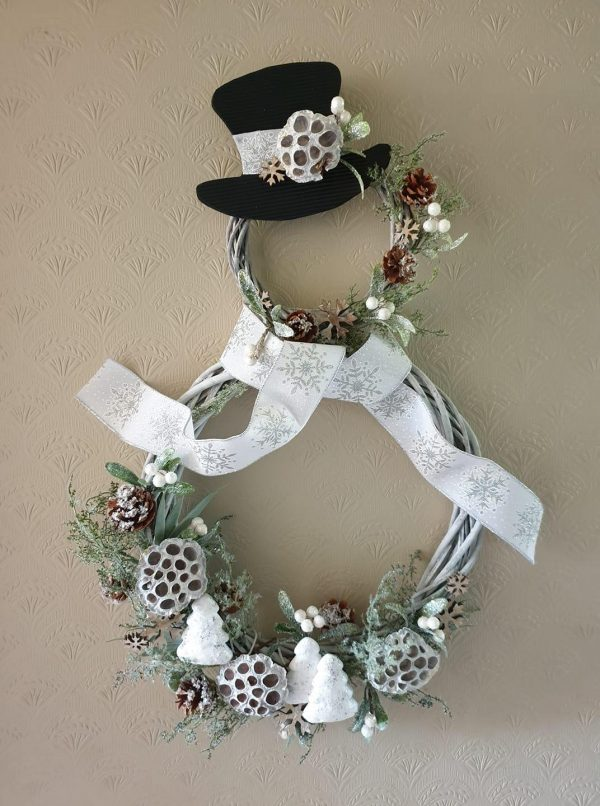 Christmas Wreath Snowman