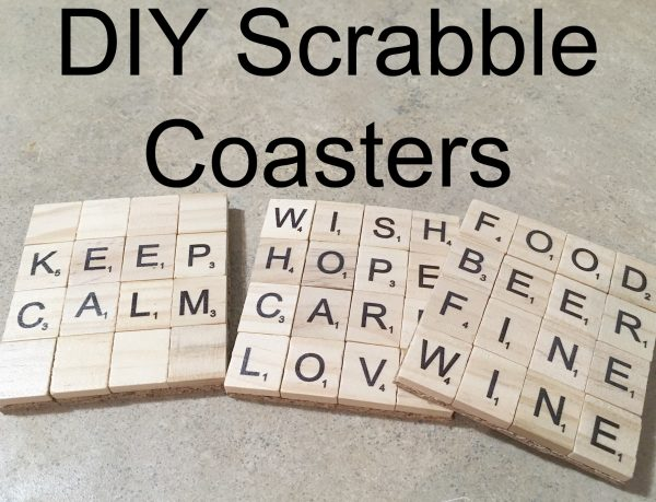 DIY Scrabble Tile Coasters