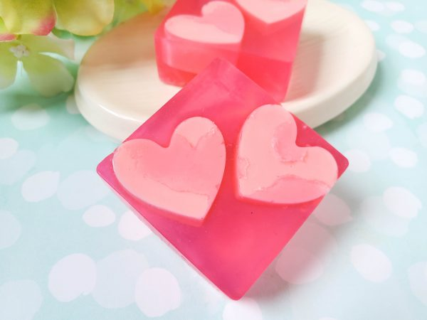 Soap Making – Red Hearts Coconut Soap