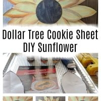 Dollar Tree Foil Tray - Sunflower Farmhouse Wall Art