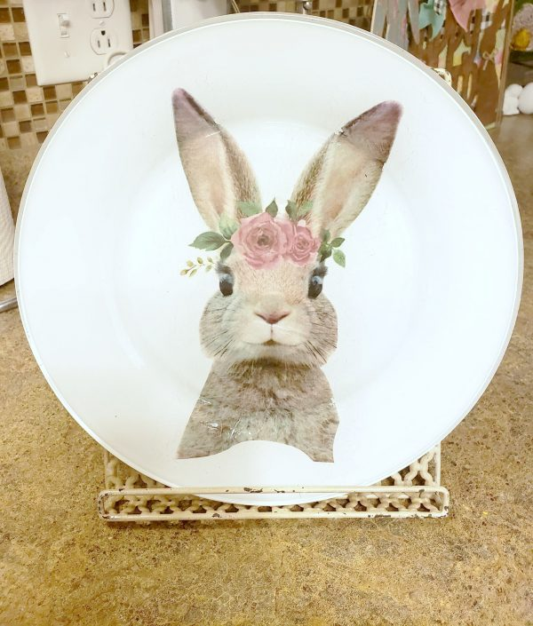 Watercolor Easter Bunny Decorative Plate
