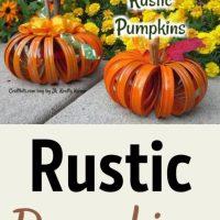 Rustic Pumpkins - Mason Jar Lids