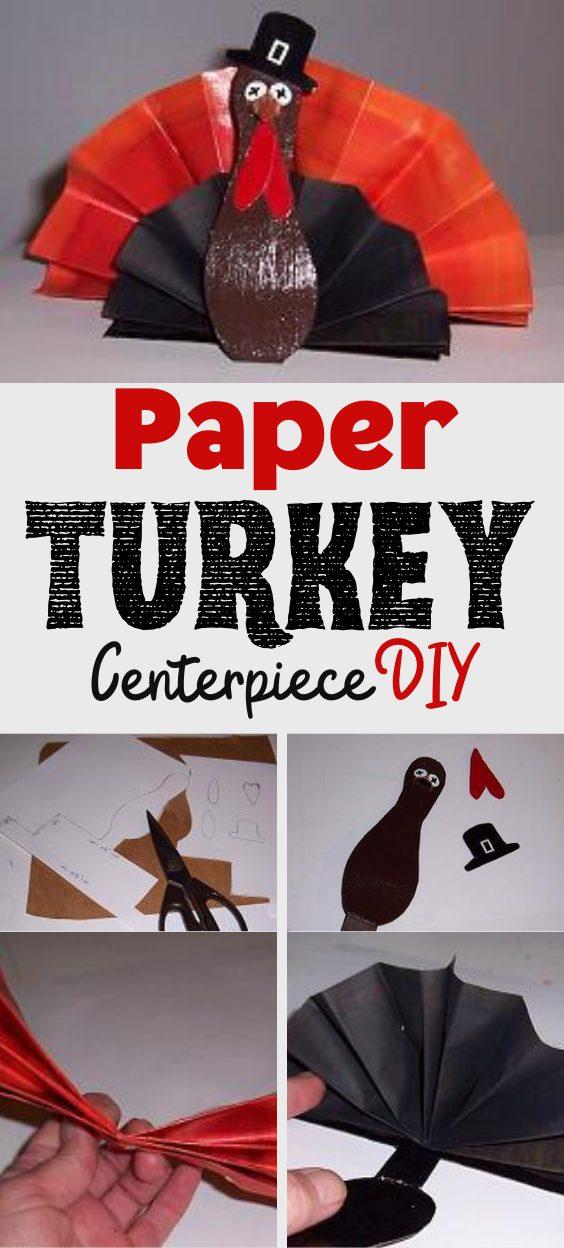 Paper Turkey Centerpiece