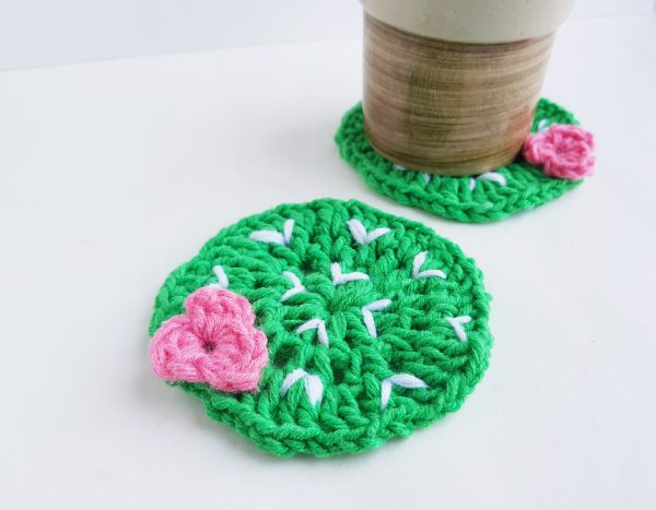 Crochet Pattern – Cactus Plant Lady Coasters