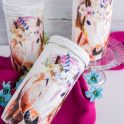 Napkin Decoupage Unicorn Mason Jar
