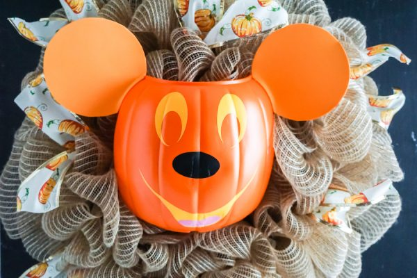 Mickey Mouse Pumpkin Wreath