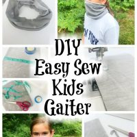 Easy To Sew Kids Gaiter Mask