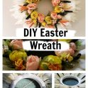 DIY Feather & Flowers Easter Wreath
