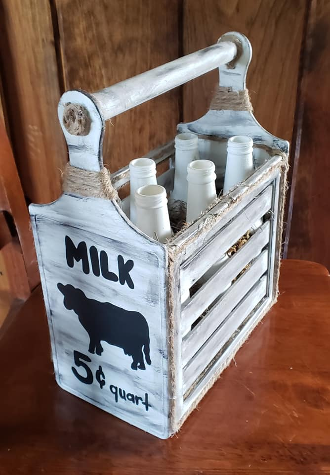 Dollar Tree Farmhouse Milk Crate