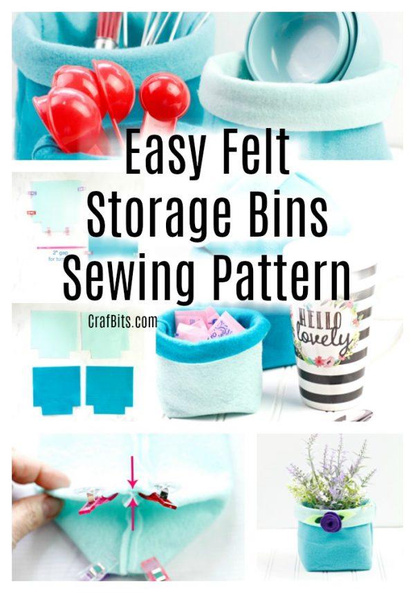 Easy Felt Storage Bins