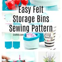 Easy Felt Storage Bins
