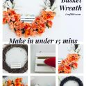 Dollar Tree -  Easter Basket Farmhouse Wreath