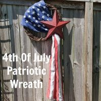 4th Of July Patriotic Flag Wreath