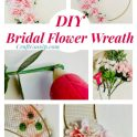 Pink and Gold Floral Bridal Wreath