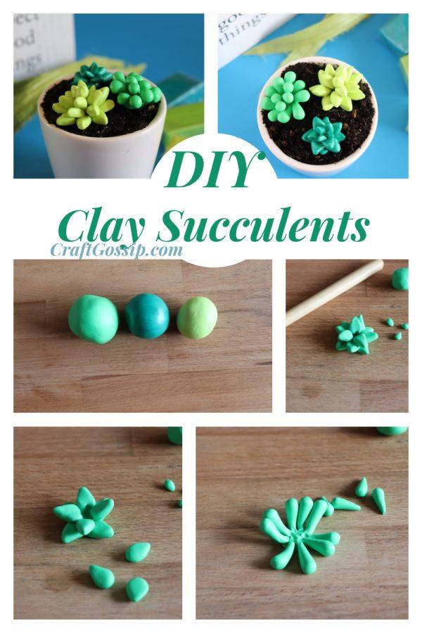 DIY Clay Succulents