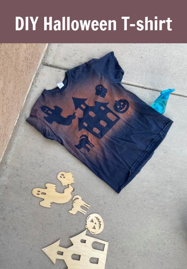 DIY Halloween Bleach T-shirt