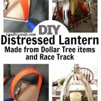 Dollar Tree - Distressed Lantern