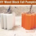 Dollar Tree - Wood Block Pumpkins