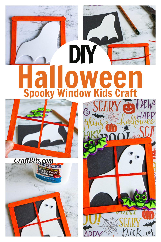 Haunted Popsicle Stick Halloween Window