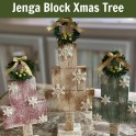 Dollar Tree - Wood Block Rustic Christmas Trees